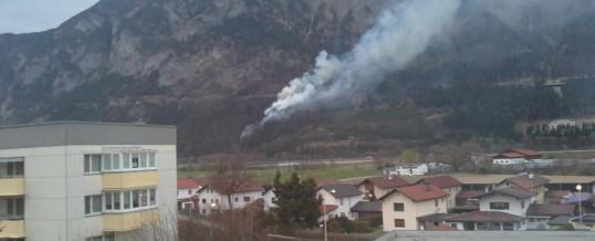 Waldbrand Gemeindegebiet Zirl