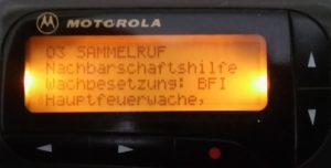 Bereitschaft HFW besetzen 21.05. - 03.06.2018