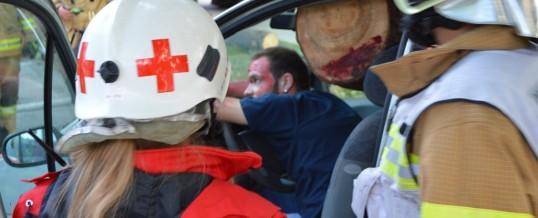 Übung mit Rettungsdienst
