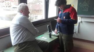 Johannes Rössler bei einer Aufgabenbewältigung