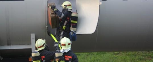 Übung – Brennendes Flugzeug
